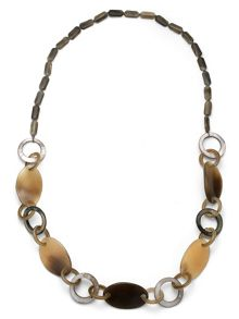 East Horn & Shell Link Necklace