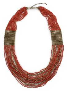 East Seed Bead Multi Necklace
