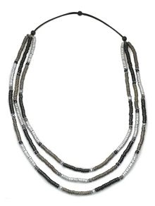 East Long Contrast Necklace