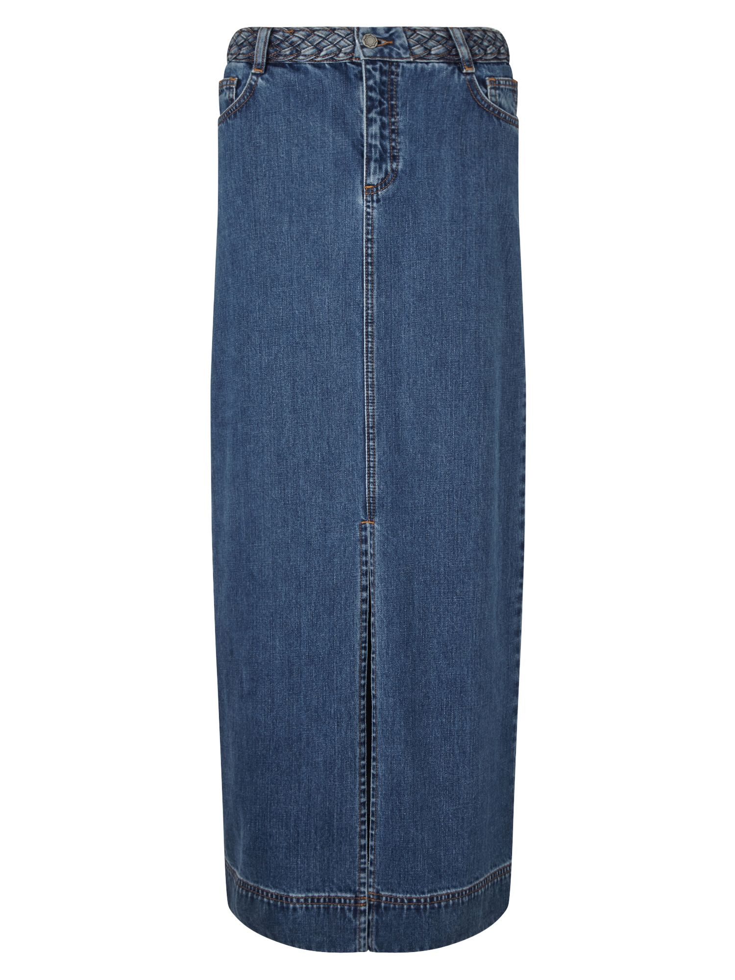East Denim Maxi Skirt, Indigo