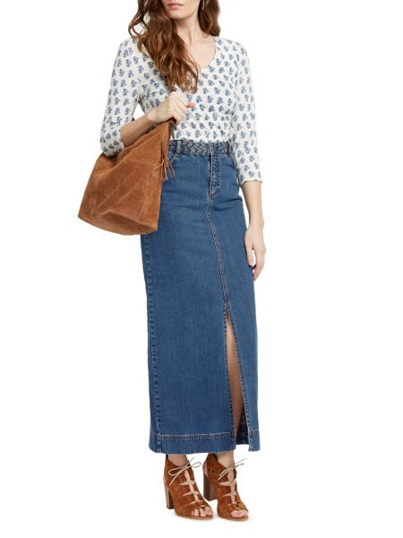 East Denim Maxi Skirt