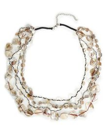 East Layered Shell Necklace