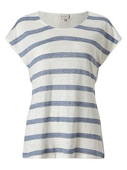 Metallic Stripe Jersey Tee