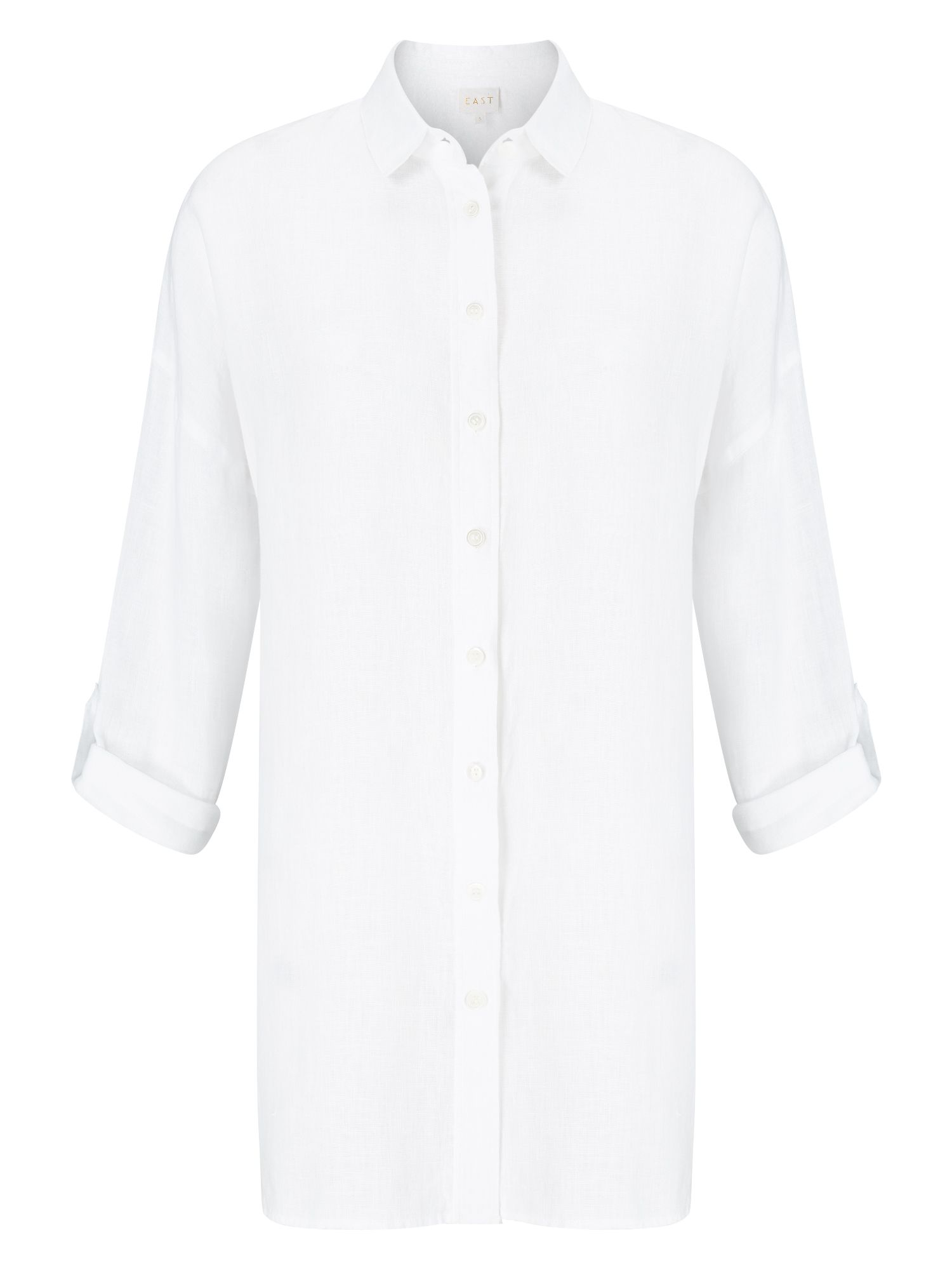 East Oversized Linen Shirt, White