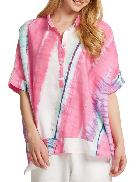 East Abstract Handkerchief Top