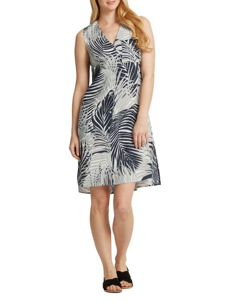 East Mika Palm Print Dress