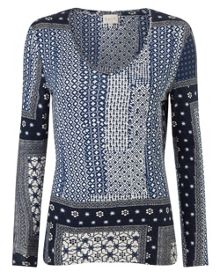 East Marrakesh Print Jersey Top