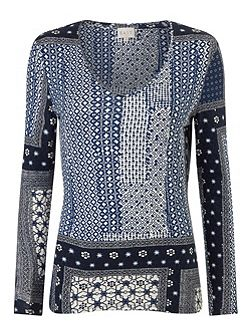 Marrakesh Print Jersey Top