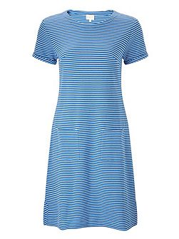 Stripe Rib Jersey Dress