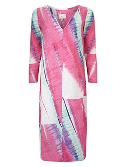 Linen Abstract Maxi Kaftan