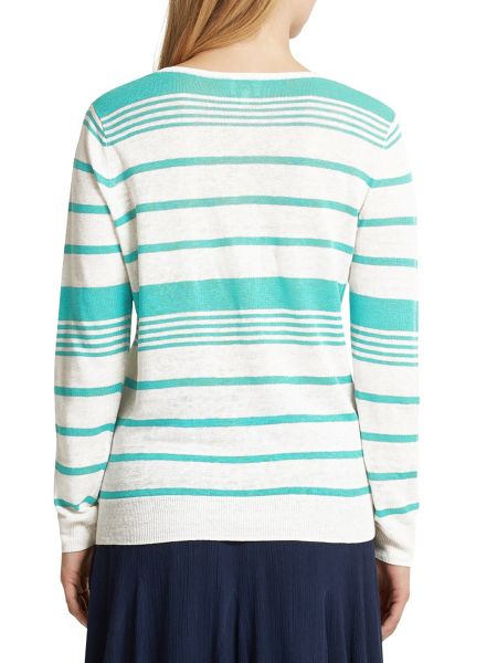 East Stripe V Neck Jumper