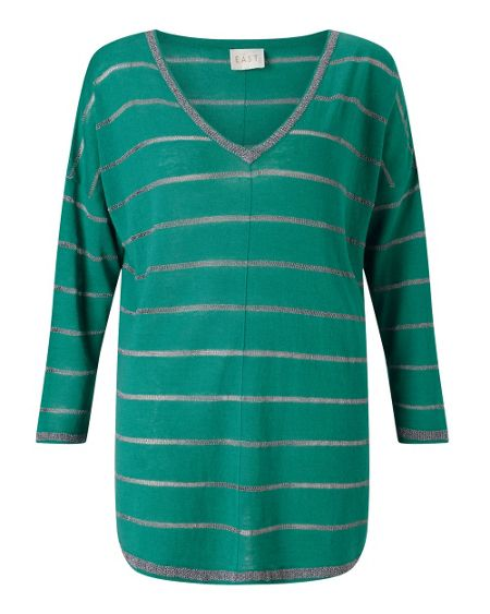 East Metallic Stripe Jumper