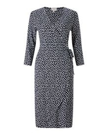East Spotted Ruche Jersey Dress