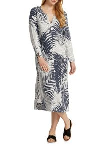 East Linen Palm Maxi Kaftan