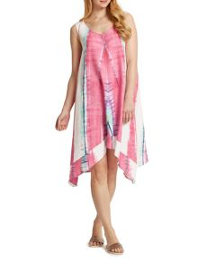 East Linen Abstract Dress