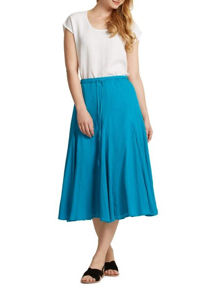 East Cheesecloth Crinkle Skirt