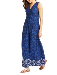 East Ikat Jersey Maxi Dress