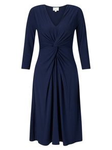 East Twist Front Jersey Dress