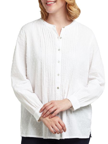 East Pintuck Dobby Blouse