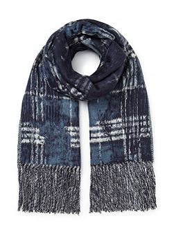 Abstract Checked Scarf
