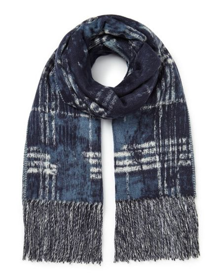 East Abstract Checked Scarf