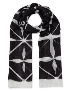 East Monochrome Printed Scarf