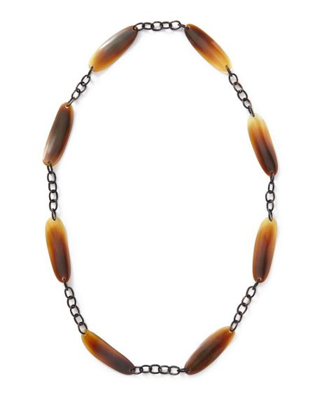 East Horn & Chain Necklace