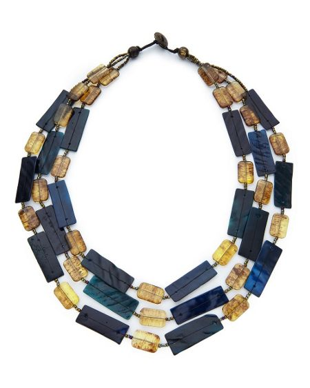 East Layered Resin Necklace