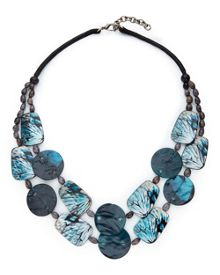 East Short Painted Shell Necklace