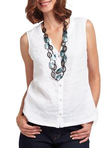 East Long Painted Shell Necklace