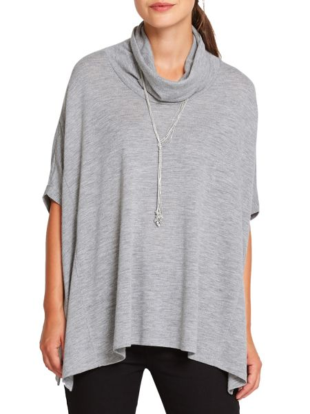 East Oversized Cowl Jersey Top