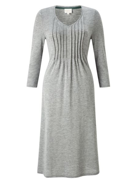 East Pintuck Flared Dress
