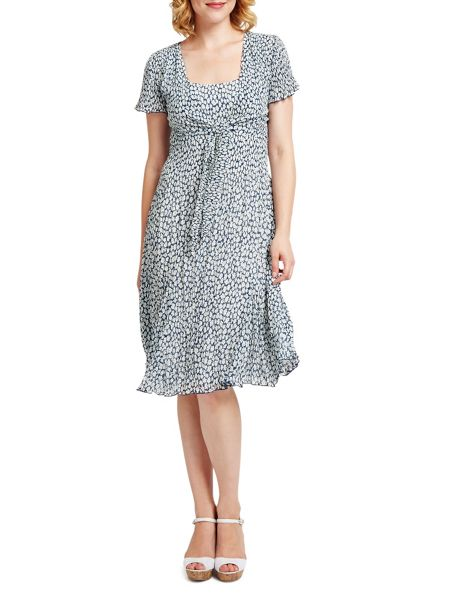 East Vida Pleat Tie Front Dress