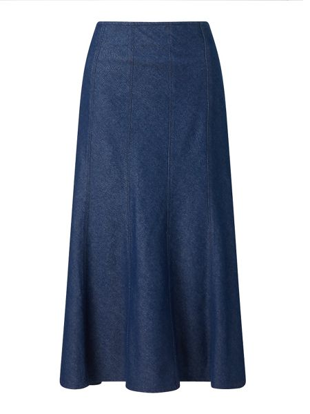 East Denim Panel Skirt