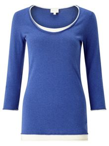 East Double Layer Knit Top