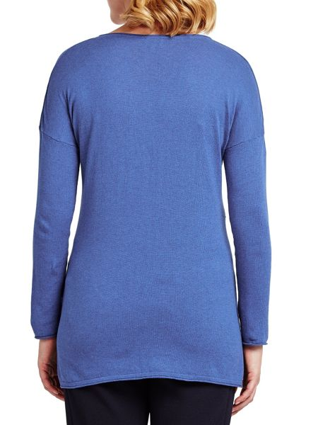 East V Neck Seam Detail Jumper