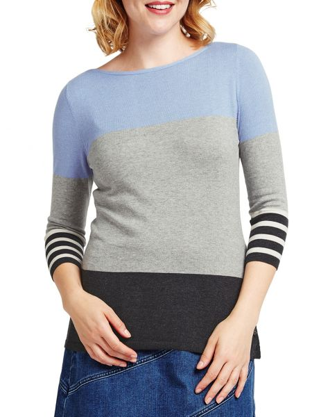 East Colourblock Knit Top