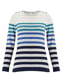 Stripe Button Detail Jumper