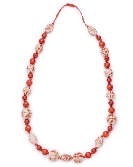East Painted Ceramic Necklace