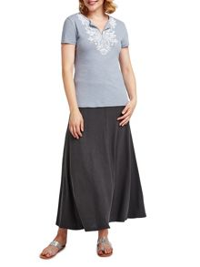 East Long Jersey Maxi Skirt