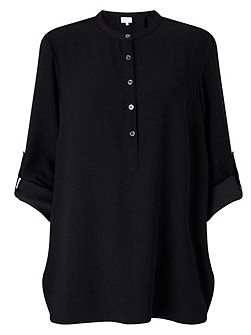 Crepe Round Neck Shirt