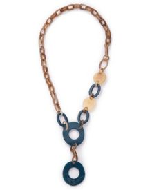 East Circle Link Resin Necklace