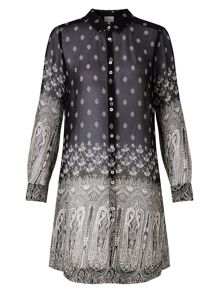 East Vassila Print Long Shirt