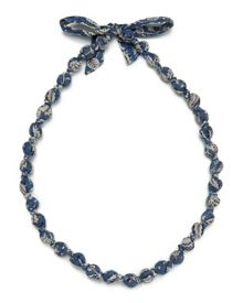 East Fabric Beaded Necklace
