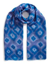 East Silk Wool Ikat Print Scarf