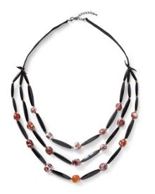 East Agate Bead Layer Necklace