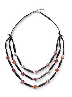 Agate Bead Layer Necklace