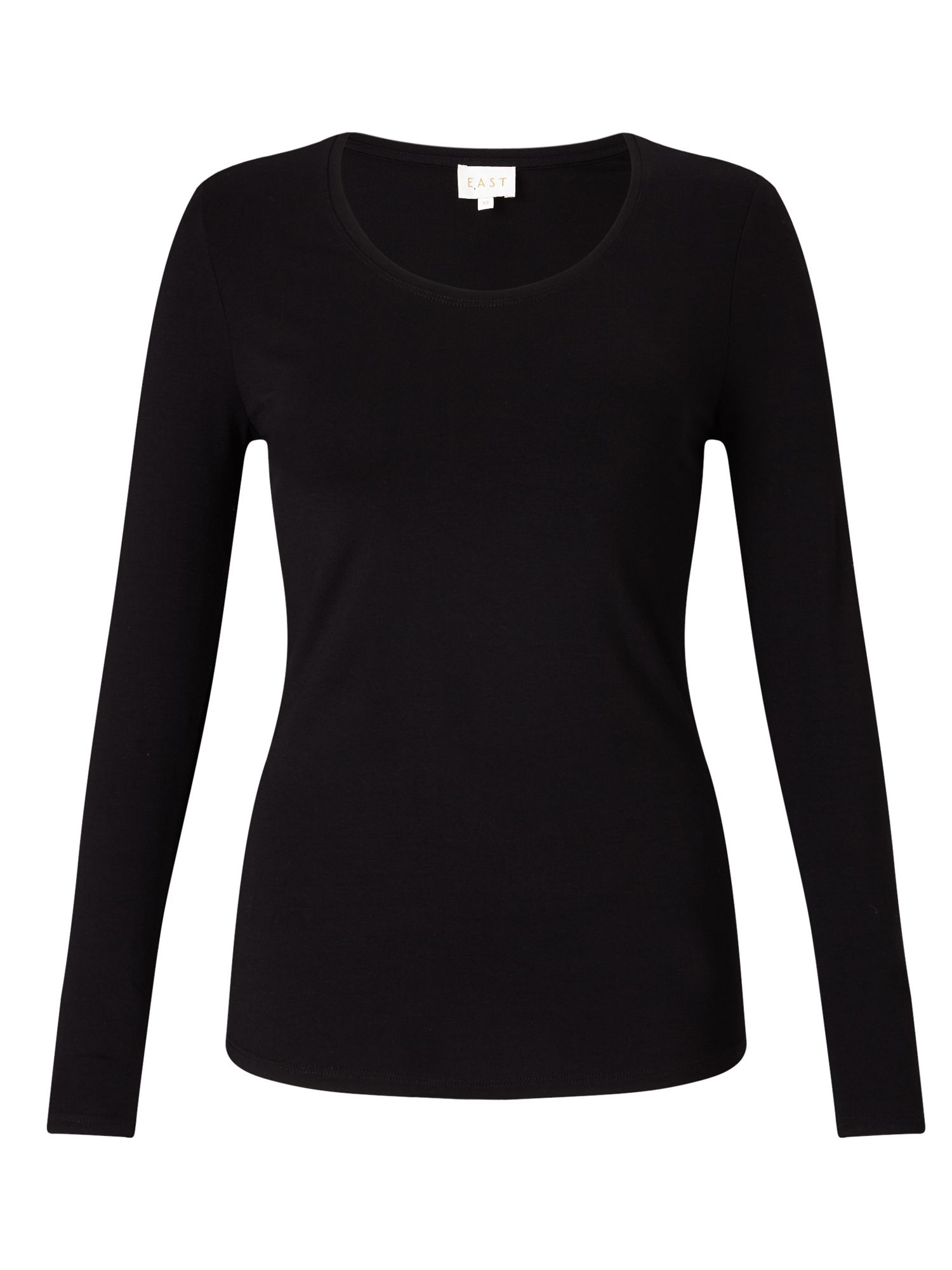 East Long Sleeve Jersey Top, Black