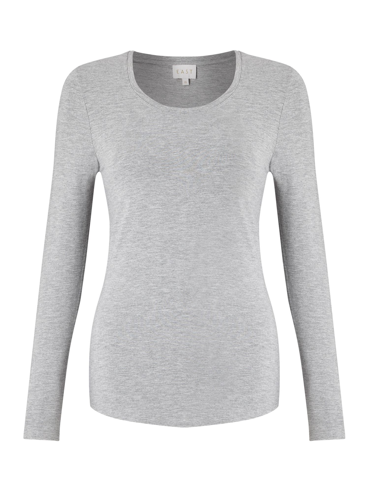 East Long Sleeve Jersey Top, Grey