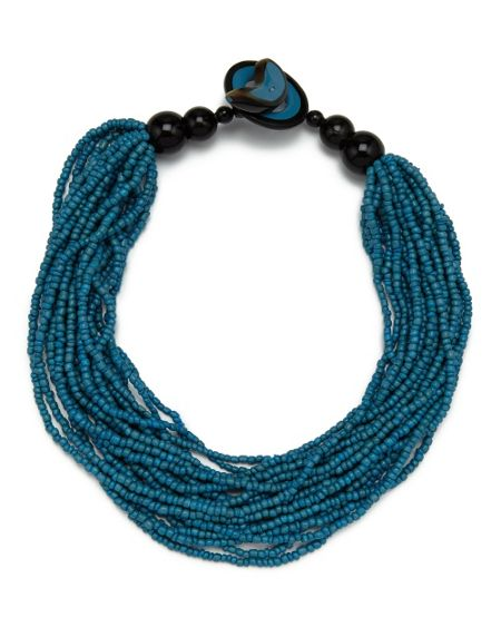 East Layered Seed Bead Necklace